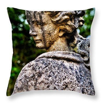 Gritty Profile Throw Pillow by Christopher Holmes
