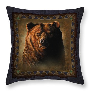 Grizzly Lodge Throw Pillow