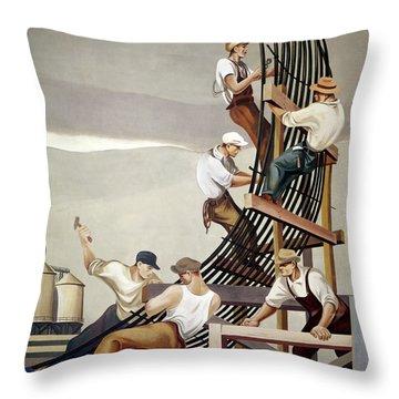 Gropper: Dam, 1939 Throw Pillow by Granger