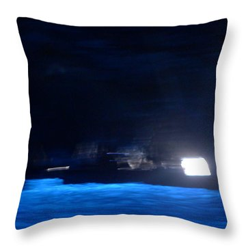 Throw Pillow featuring the photograph Grotta Azzura by Nora Boghossian
