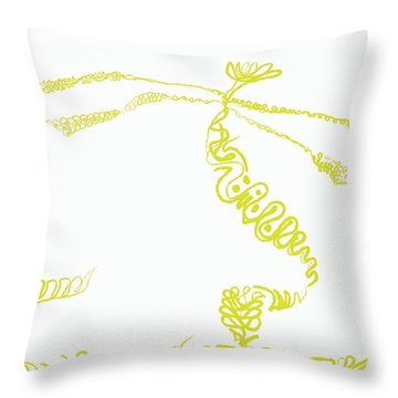 Ground Frond Throw Pillow