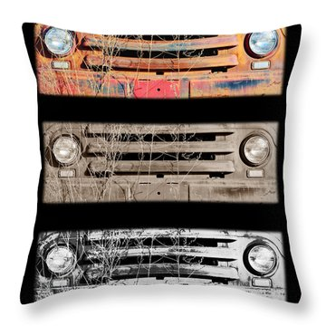 Growing Old Throw Pillow by Luke Moore