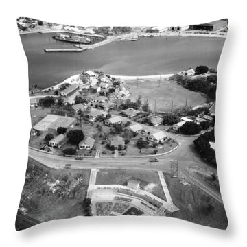 Guantanamo Bay Naval Base Throw Pillow by Granger