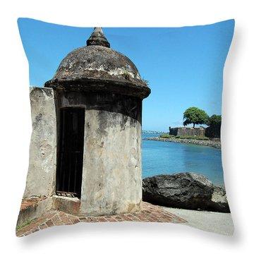 Guard Post Castillo San Felipe Del Morro San Juan Puerto Rico Throw Pillow by Shawn O'Brien