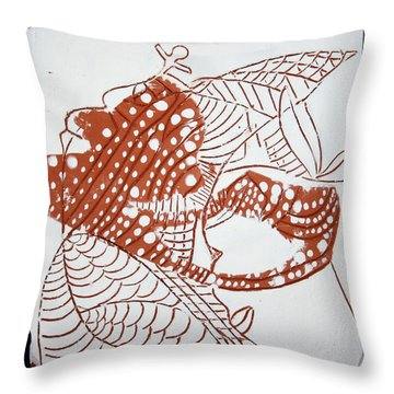 Guardian Angel - Tile Throw Pillow by Gloria Ssali