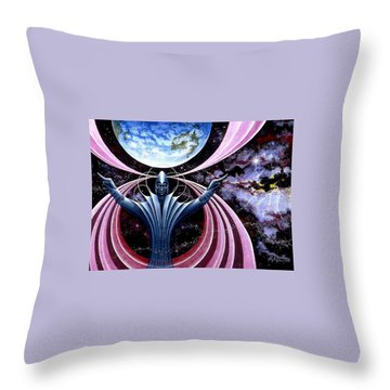 Guardian Angel Throw Pillow by Hartmut Jager