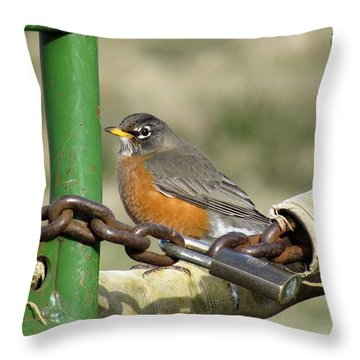 Throw Pillow featuring the photograph Guardian Of The Gate by I'ina Van Lawick