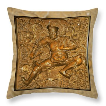 Guardian Warrior - It Can't Hurt To Have Your Own Throw Pillow by Christine Till