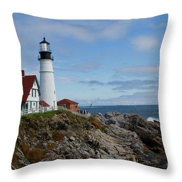 Guarding Ship Safety Throw Pillow