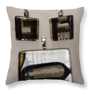 Throw Pillow featuring the jewelry Guitar Glass Tile Set by Darleen Stry