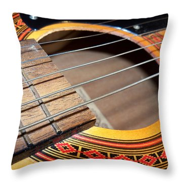 Guitar Portrait Throw Pillow