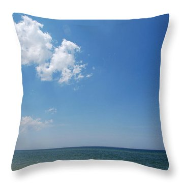 Gulf Sky Throw Pillow