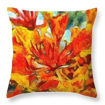 Gulmohar Throw Pillow