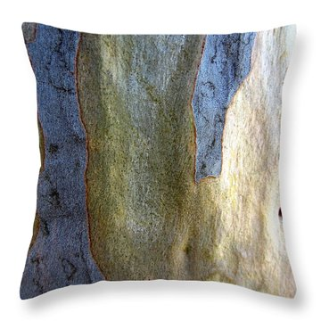 Throw Pillow featuring the photograph Gum Tree Bark by Roberto Gagliardi