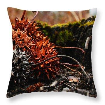 Gumballs Throw Pillow by Karen Harrison