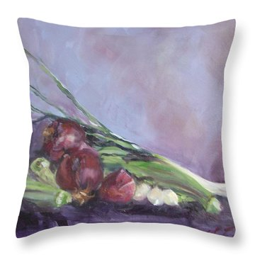 Throw Pillow featuring the painting Gumbo  by Carol Berning