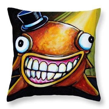 Gummy Stage Glob Throw Pillow by Leanne Wilkes