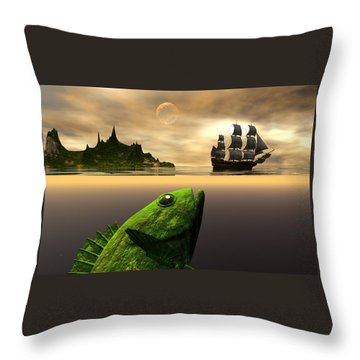 Throw Pillow featuring the digital art Gustatory Anticipation by Claude McCoy