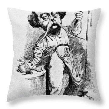 Gustave Flaubert Throw Pillows