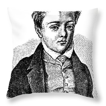 Gustave Flaubert, Age 10, French Author Throw Pillow by Photo Researchers