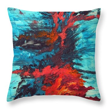 Gut Feeling Throw Pillow by Everette McMahan jr