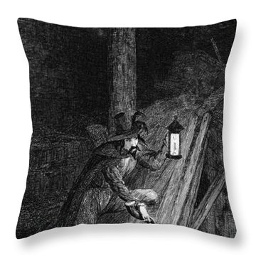 Guy Fawkes, English Soldier Convicted Throw Pillow by Photo Researchers