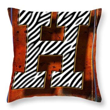 H Throw Pillow by Mauro Celotti