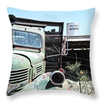 Hackberry Arizona Route 66 Throw Pillow