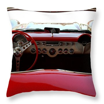 Hackberry Corvette Throw Pillow