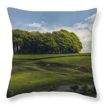 Hackpen Hill Throw Pillow by Clare Bambers