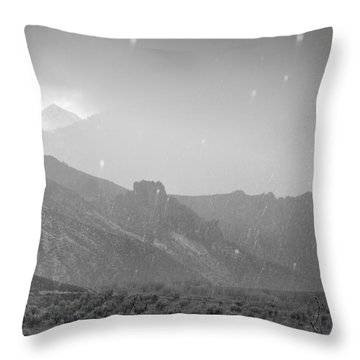 Hail Storm In The Mountains Throw Pillow by Guido Montanes Castillo