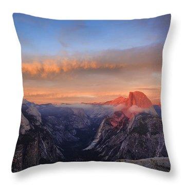 Half Dome At Sunset Throw Pillow