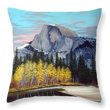Half-dome Throw Pillow by Rick Gallant