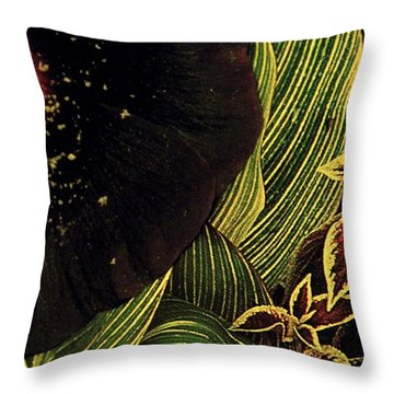 Half Fake Throw Pillow by Chris Berry