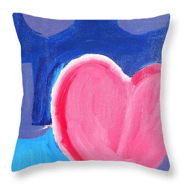Half Hearted Throw Pillow