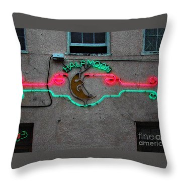 Half Moon Bar New Orleans Throw Pillow by Kathleen K Parker