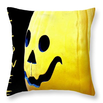 Halloween 1 Throw Pillow by Maria Urso