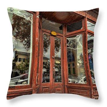 Halloween Storefront - Shepherdstown Wv Throw Pillow