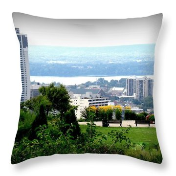 Throw Pillow featuring the photograph Hamilton Downtown View From  by Danielle  Parent