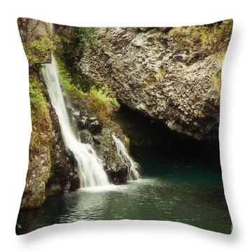 Hana Waterfall Throw Pillow by Scott Pellegrin