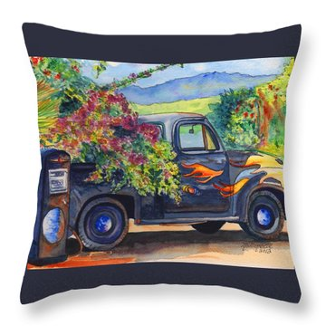 Hanapepe Truck Throw Pillow by Marionette Taboniar