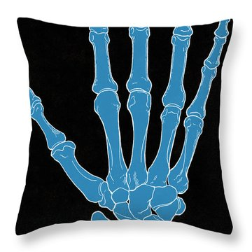 Hand And Wrist Bones Throw Pillow by Science Source