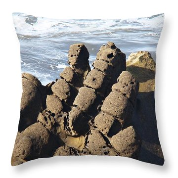 Throw Pillow featuring the photograph Hand Of Zeus by Nick Kloepping