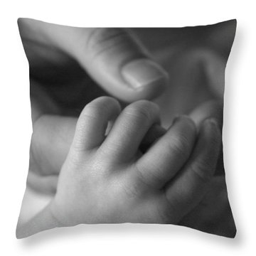 Hands Throw Pillow by Kelly Hazel