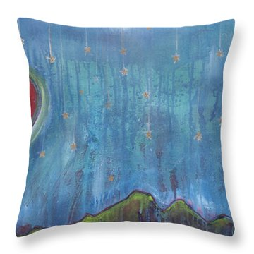 Hang Among The Stars Throw Pillow