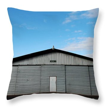 Throw Pillow featuring the photograph Hangar 2 The Building by Kathleen Grace