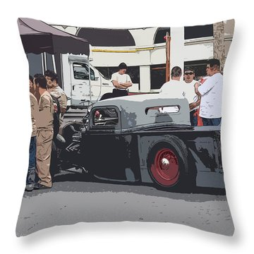 Hanging At The Car Show Throw Pillow by Steve McKinzie