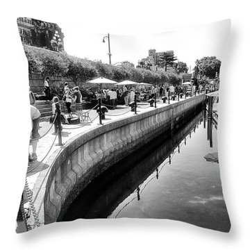 Hanging At The Harbor Throw Pillow