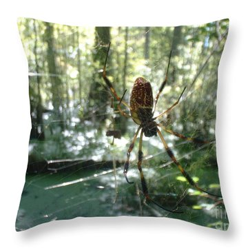 Throw Pillow featuring the photograph Hanging Loose by Mark Robbins