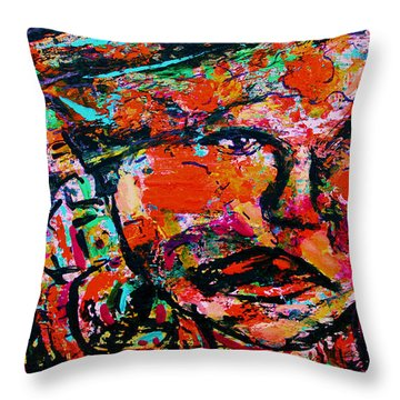 Hanging On Throw Pillow by Natalie Holland